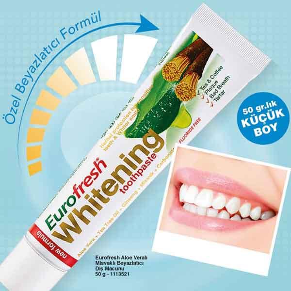 Farmasi Eurofresh Whitening Aloe Veralı Misvaklı Diş Macunu 2