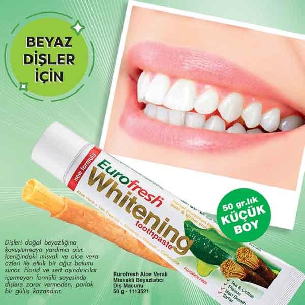 Farmasi Eurofresh Whitening Aloe Veralı Misvaklı Diş Macunu 5