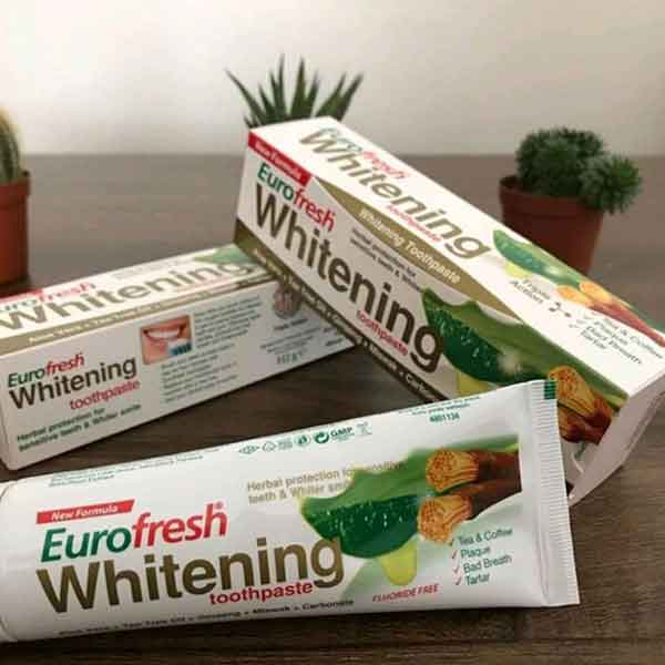 Farmasi Eurofresh Whitening Aloe Veralı Misvaklı Diş Macunu 6