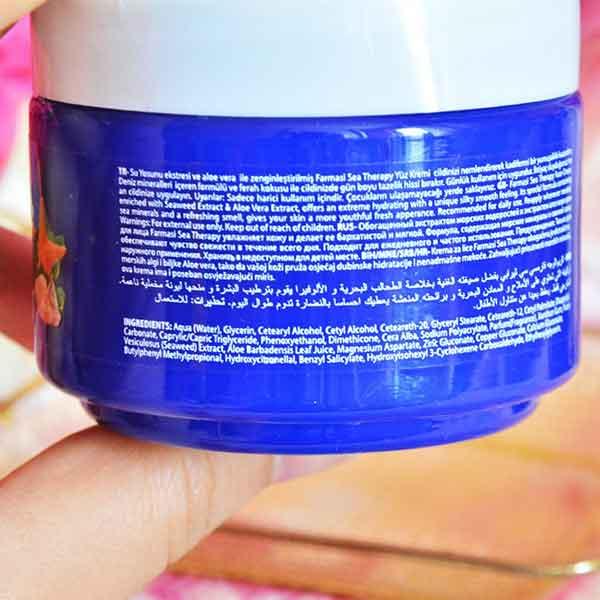 Farmasi Naturelle Sea Therapy Nemlendirici Yüz Kremi 7