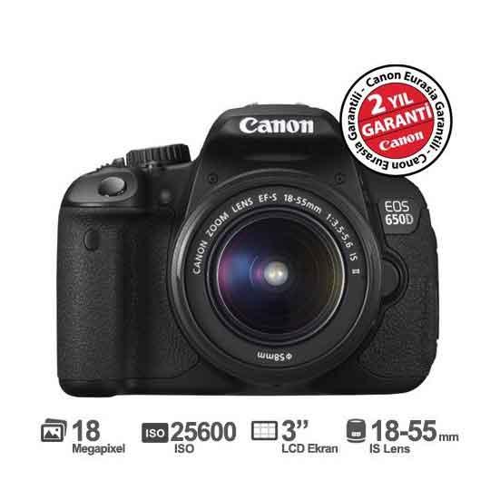 Canon EOS 650D 18-55MM IS II 18MP Fotoğraf Makinesi 1