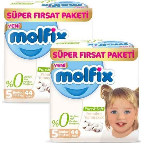 Molfix Pure & Soft 5 Beden Junior Bebek Bezi 2