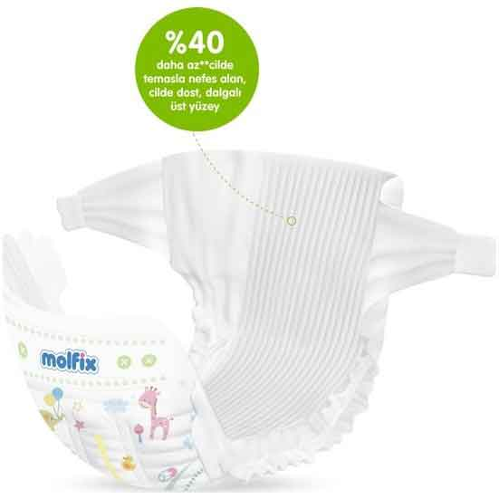 Molfix Pure & Soft 5 Beden Junior Bebek Bezi 6