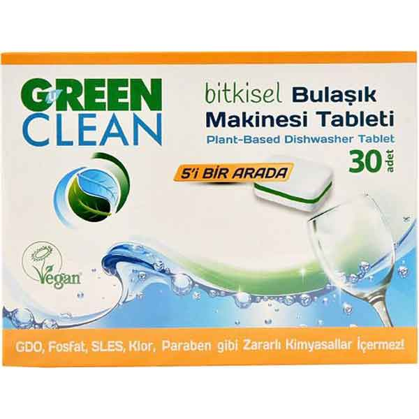 U Green Clean 30'lu Bitkisel Bulaşık Makinesi Tableti 2