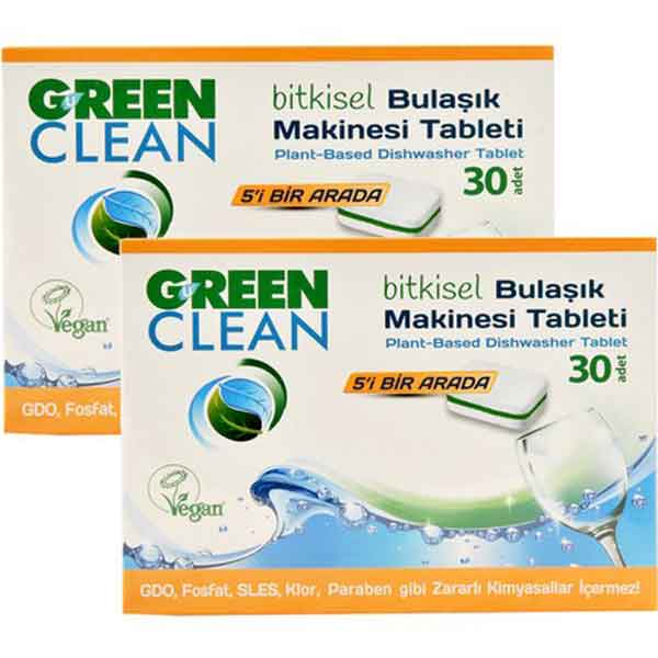 U Green Clean 30'lu Bitkisel Bulaşık Makinesi Tableti 3