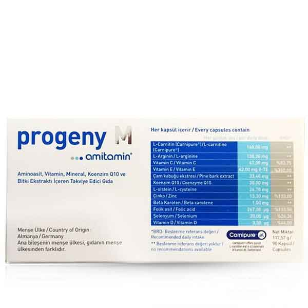 Progeny M Amitamin 90 Kapsül 2