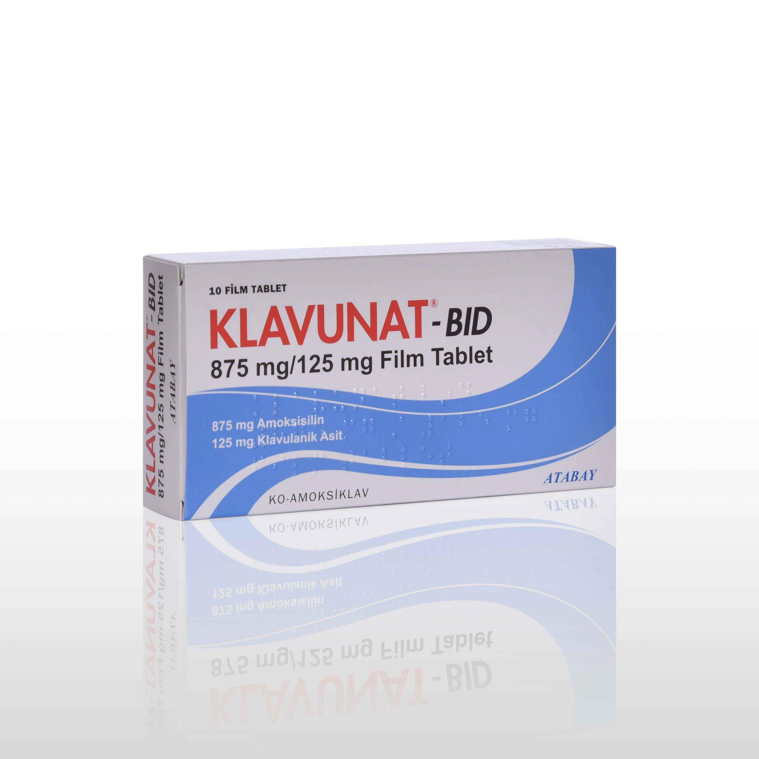 KLAVUNAT BID 1000 mg Film Tablet 1