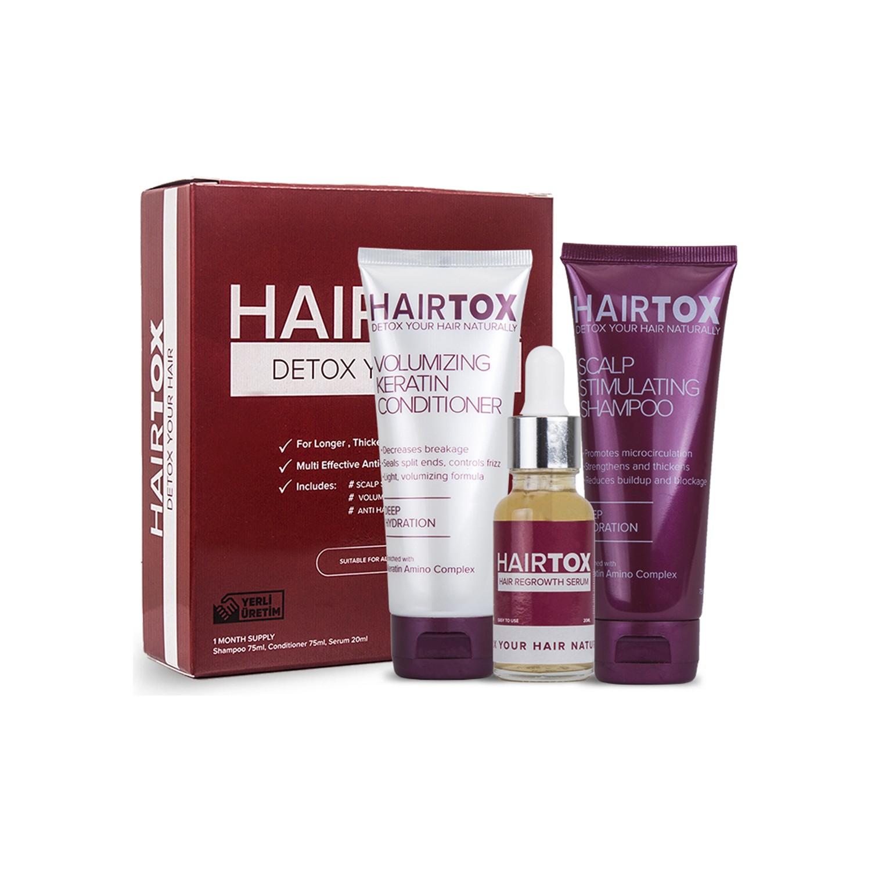 Hairtox Saç Detoks Seti Şampuan Krem ve Serum